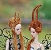 Favourite Popovy Wigs. (stashraider) Tags: popovy wig resin ball jointed art doll ursisarna sisters