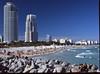 Miami South Beach (Todron) Tags: pentax pentax645n pentax645 645 45x6 120 220 mediumformat medioformato filmcamera film 45mm 45mmf28 wide wideangle grandangolo fuji fujifilm fujichrome provia fujichromeprovia100f 100asa diapositiva slide e6 transparency epson v600 epsonv600 panorama panoramica panoramic miami miamibeach florida usa southbeach thecontinuum sky bluesky cielo mare sea spiaggia beach