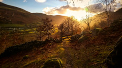 Sunset in the valley (Sony Xperia XA1) (joshdgeorge7) Tags: wales walking sony sunset golden cold winter welsh landscape colour contrast tonal