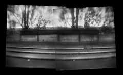 Along the Seine (Chuck Baker) Tags: alternative analog architecture blackandwhite building brownie believe camera darkroom film flipped flip hawkeye history kodak lomography lomo life love lens light monochrome notechography old photography photograph plastic peace pinhole paris france rangefinder surreal stairs toy tmax tree urban viewfinder wall z