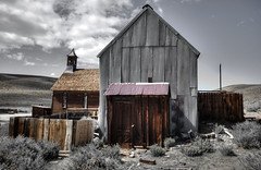 Ghost Town (Rik Tiggelhoven Travel Photography) Tags: bodie state historic park gold mining shp california usa united states america amerika building architecture barn church selective colors desert canon eos 6d fullframe full frame ef24105mmf4lisusm ef1740mmf4lusm rik tiggelhoven travel photography hdr clouds outdoor