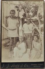 Queensland aborigines photographed by J.J. Hogg & Co, George Street, Brisbane - circa 1900 (Aussie~mobs) Tags: aborigines family jjhoggco georgestreet brisbane queensland vintage australia natives indigenous portrait aussiemobs