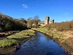 Tintern Abbey (JulieK (thanks for 7 million views)) Tags: tinternabbey cistercian rivertintern woods water wexford ireland irish iphonese 2018onephotoeachday old buliding historic ruins