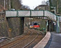 No Tug Today (whosoever2) Tags: uk united kingdom gb great britain february 2018 nikon d7100 train railway railroad newmills derbyshire 6h52 dbs dbcargo schenker class66 66110 freight