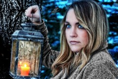 🌟🌗Night Walk🌗🌟 (Cindy Roy's Photography) Tags: night portrait butterflies moths mystical magical photos nature people winter blue tree trees snow lady pose magic