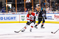 """Kansas City Mavericks vs. Cincinnati Cyclones, February 2, 2018, Silverstein Eye Centers Arena, Independence, Missouri.  Photo: © John Howe / Howe Creative Photography, all rights reserved 2018. • <a style=""""font-size:0.8em;"""" href=""""http://www.flickr.com/photos/134016632@N02/26244999048/"""" target=""""_blank"""">View on Flickr</a>"""