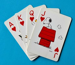 Cards (linda_lou2) Tags: 118picturesin2018 themeno111 cards odc snoopy hearts ace king queen jack