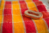 DSC_4839 (janetsaw) Tags: rigid heddle loom bright yellow red towels handmade handwoven