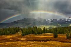 Autumn Rainbow (Amy Hudechek Photography) Tags: rainbow colorado san juan autumn fall september rain amyhudechek nikond810 landscape weather storm nature