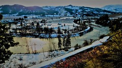 Views from N. Dryden Rd. (Pictoscribe) Tags: pictoscribe winter wenatchee valley north dryden road orchard river