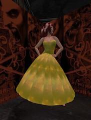 Summer Dress - Galaxy - Yellow_001 (hmkagm) Tags: maitreya with flexy skirt silver dragon summer flowers pleated