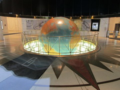 Daily News Lobby Globe East 42nd st NYC 7776 (Brechtbug) Tags: daily news lobby globe east 42nd street new york city 2018 nyc earth model stand for planet 1978 superman movie with christopher reeve paper newspaper print media sphere map maps globes spinning slowly