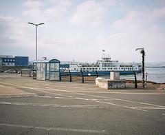 Crossing (@davidflem) Tags: plymouth devon tamar devonport mamiya7 65mm kodak portra400 6x7 120film mediumformat istillshootfilm