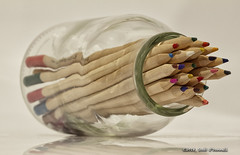 To The Point (scottnj) Tags: 365the2018edition 3652018 day8365 08jan18 scottnj scottodonnellphotography 8365 365project bottle glass macro macromonday pencils coloredpencils coloringpencils point pencilpoint