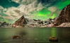 Emerald Bay. (darklogan1) Tags: reine lofoten norway snow fiord landscape logan darklogan1 clouds harbour seascape warm serene a7r2 sony sonyilce7rm2 zeissze2128 nightphotography aurora northernlights