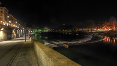 Torino di notte : i Murazzi (Roberto Defilippi) Tags: 2018 32018 rodeos robertodefilippi nikond7100 tokina1116mmf28 po fiume fiumepo river diga notte night nightscape tipod treppiede