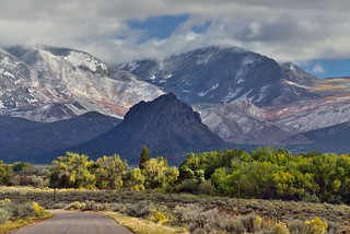 Heading off to the La Sal Mountains