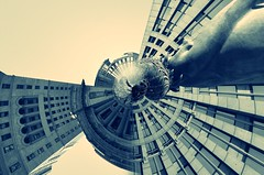 Cleveland (New Expressions by the Old Christine) Tags: cleveland ohio oh fountain statue tinyplanet