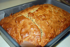 Fresh Banana Bread. (dccradio) Tags: lumberton nc northcarolina robesoncounty bread quickbread bananabread breadpan pan cooling kitchencounter indoors inside nikon d40 dslr food eat snack dessert sweet treat