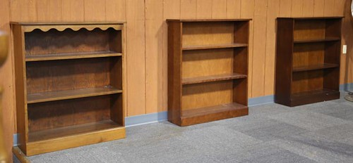 Clore Bookcases ($364.00, $364.00, and $280.00)