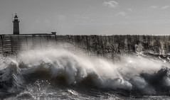 Tempest (fieldino34) Tags: storm sea tempest waves surf wall ocean stormy lighthouse newhaven sussex eastsussex winter nikon nikond750 nikonphotography angry rage power nature mothernature spray