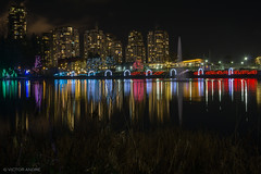 Lafarge Lake reflections (maestro17ca) Tags: christmaslights christmastree christmas winter light reflection lafargelake coquitlam britishcolumbia canada greatervancouver eveninglights downtowncoquitlam coquitlamatnight nightphotography long exposure view vista condos
