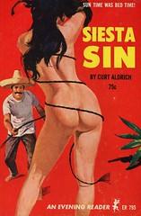 Evening Reader 795 - Curt Aldrich - Siesta Sin (swallace99) Tags: eveningreader greenleaf vintage 60s sleaze paperback callipygian