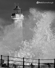 CO1A6123 (chris fearnehough) Tags: lighthouse storm stormchaser wirral newbrighton perchrock waves