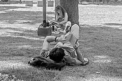 Mañana de lectura II (Wal Wsg) Tags: 7dwf thursdays bw 7dwfthursdaysbw argentina argentinabsas buenosaires caba capitalfederal ciudadautonoma ciudaddebuenosaires villacrespo parquecentenario mañanasdelectura reading read reader readingbook leer lectura lecture leyendo byn phwalwsg