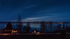 Winter View (Stefan Waldeck) Tags: night lake clouds sky houses lights city road trees reflections karlskoga värmland sweden 2017 netzki stefanwaldeck stefan waldeck