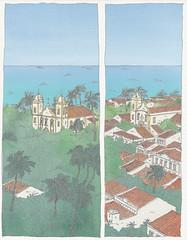 Brasil, Olinda (pirlouit72) Tags: bresil brasil brazil pernambuco olinda recife sketch drawing dessin croquis urbansketch urbansketcher urbansketchers carnetdevoyage unesco