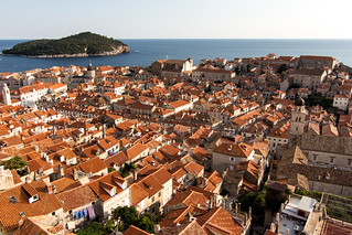Old town of Dubrovnik on a sunny day