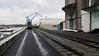 Stadthafen (city harbor) (frankdorgathen) Tags: rail railway crane building leadinglines perspective wideangle stadthafen cityharbor essen ruhrgebiet industry outdoor winter