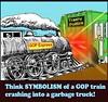 GOP Trash Express (FolsomNatural) Tags: gop train crash trash truck satire
