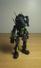 Quick Update (ohlookitsanartist) Tags: lego bionicle moc black update cyber surfer green robot futuristic helmet mask