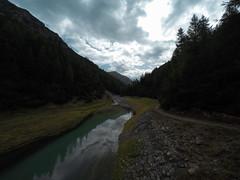 River Landscape from Birdge (Ivan Mariani) Tags: river path clouds livigno ponte delle capre