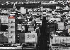 coca cola (yeezusr96) Tags: blackandwhite cocacola views skyline warsaw