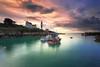 Doelan , petit port de carte postale (Ludovic Lagadec) Tags: finistere morning doelan lighthouse bretagne colors france nisifilters harbour boat light