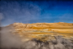 Desert Walk (*Capture the Moment*) Tags: 2017 clouds farbdominanz fog fotowalk iceland island namaskard nebel rauch schlammquellen schwefel smoke sonya7m2 sonya7mii sonya7mark2 sonya7ii sonyfe2470mmf4zaoss sonyilce7m2 sulphur wetter woleken yellow gelb mudfountain mudspring mudwell