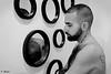 Mika J. (Phoenix Blue Parangon) Tags: mle man masculin portrait monochrome hairy poilu tatoo tatouage miroir miror reflet