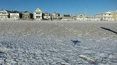 DJI Phantom 4 over snowy Manasquan Beach (apardavila) Tags: djiphantom4 atlanticocean drone aerial sand beach snow manasquan manasquanbeach manasquaninlet jerseyshore beachfronthomes sky