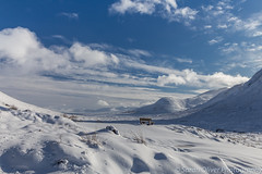 A place to sit and dream (sarahOphoto) Tags: 6d bench blue canon clouds fresh glencoe highlands kingdom landscape nature pure scotland sky snow snowscape solitary uk united white winter unitedkingdom gb lochaber geopark glen coe mountain