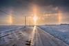 Climatic event : a Parhelion   Phénomène climatique : un parhélie (paul-g-goyette-qc) Tags: parhélie parhelion cold ice road
