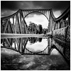 Bridge of Spies (Mark Lindstrom) Tags: bridge brucke spies coldwar reflection bw monochrome square puddle glienicker potsdam germany deutchland berlin