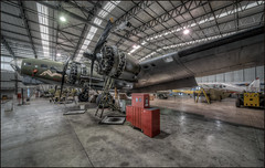 Sally B (Darwinsgift) Tags: sally b memphis belle b17 bomber wwii ww2 nikon d850 hdr pkotomatix duxford laowa 12mm f28 zero d plane aircraft hangar maintainance