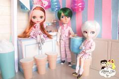 Sweet Ice Cream Collection (Mundo Ara) Tags: blythe pow wow poncho custom isul johan retro memory taeyang doll groove takara roupas clothes