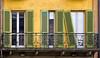 Green Asymmetry (Ernst_P.) Tags: architektur balkon crema fensterladen ita italien lombardia grün door puerta verde green italy lombardei italia