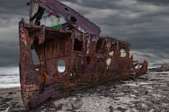 New Life on the Old Wreck (markjones bris) Tags: ship wreck clouds water rust boat drama shipwreck gayundah woodypoint