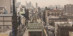 Queens (PAJ880) Tags: ueens el elevated tracks trains mta transit skyline lic long island city nyc urban
