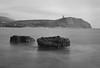 Kimmeridge bay (Attila Pasek) Tags: fomapan400 kimmeridge pentaconsix bay longexposure longexposuretime lookouttower rock sea